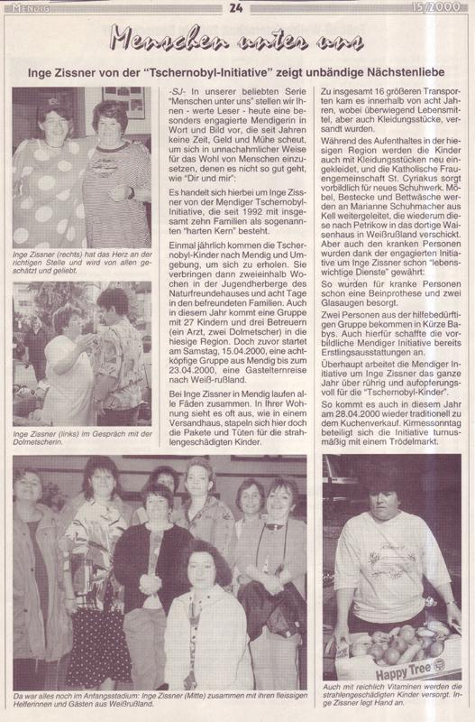Mendiger Ortsblatt Ausgabe 15/2000