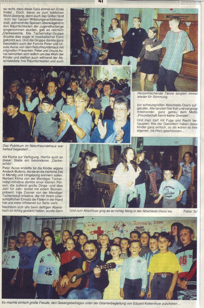Zeitung 09.07.2000