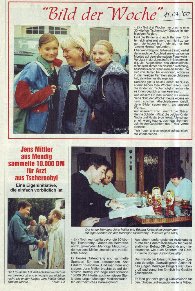 Zeitung 17.07.2000